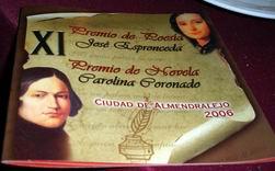 Premios José de Espronceda y Carolina Coronado. Almendralejo.  2006
